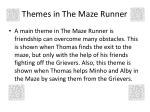 themes in the maze runner