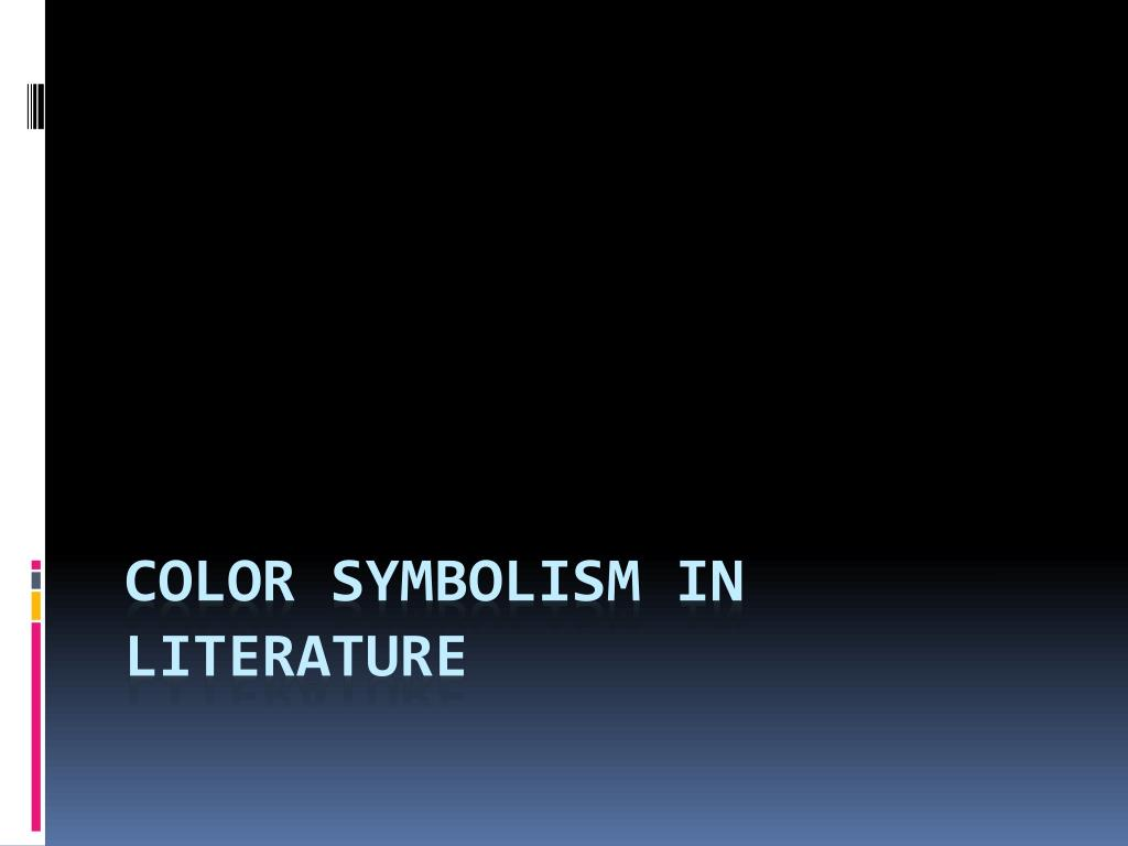 ppt color symbolism in literature powerpoint presentation id 2083252