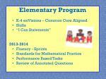elementary program