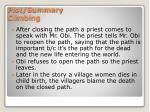 plot summary climbing1