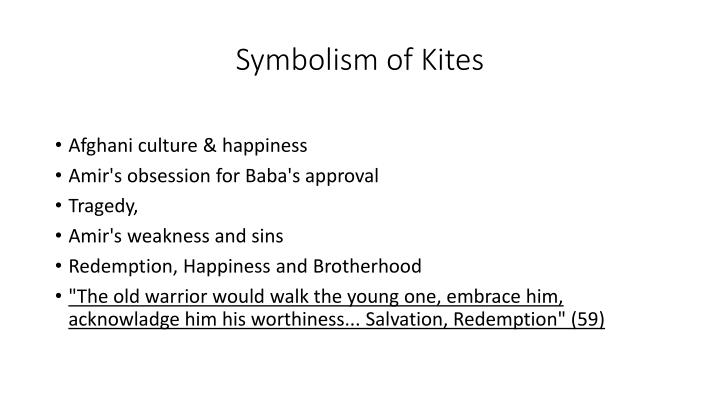 what do kites symbolize in the kite runner
