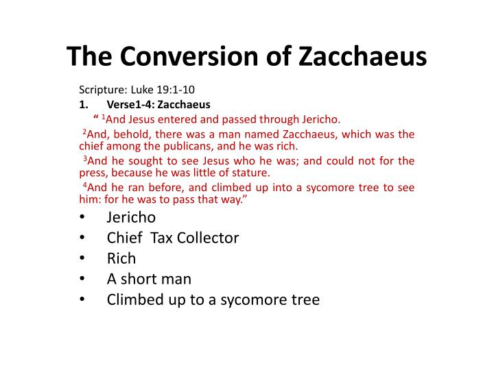 the conversion of zacchaeus n.