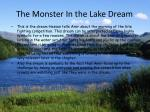 the monster in the lake dream