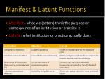 manifest latent functions