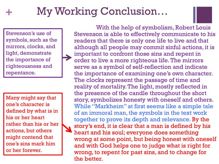 My Working Conclusion…