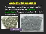andesitic composition