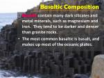 basaltic composition