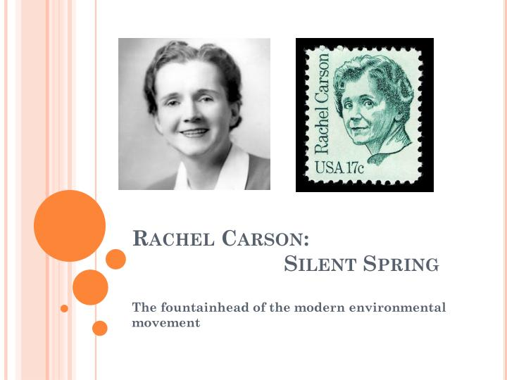 a literary analysis of silent spring by rachael carson