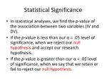statistical significance1