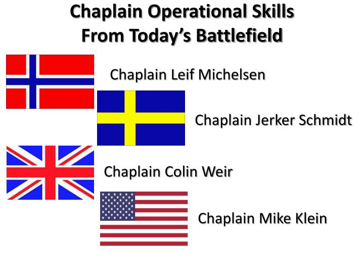 chaplain operational skills from today s battlefield n.