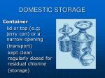 domestic storage