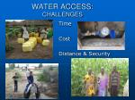 water access challenges