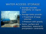 water access storage