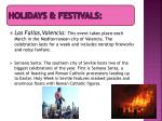 holidays festivals