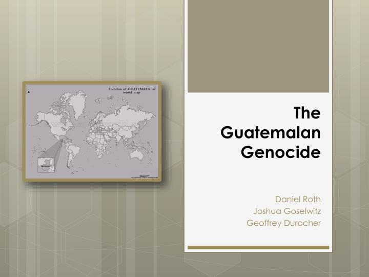 the guatemalan genocide n.