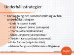 underh llsstrategier