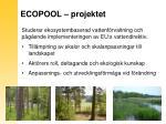 ecopool projektet