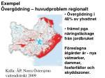 exempel verg dning huvudproblem regionalt