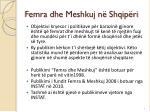 femra dhe meshkuj n shqip ri