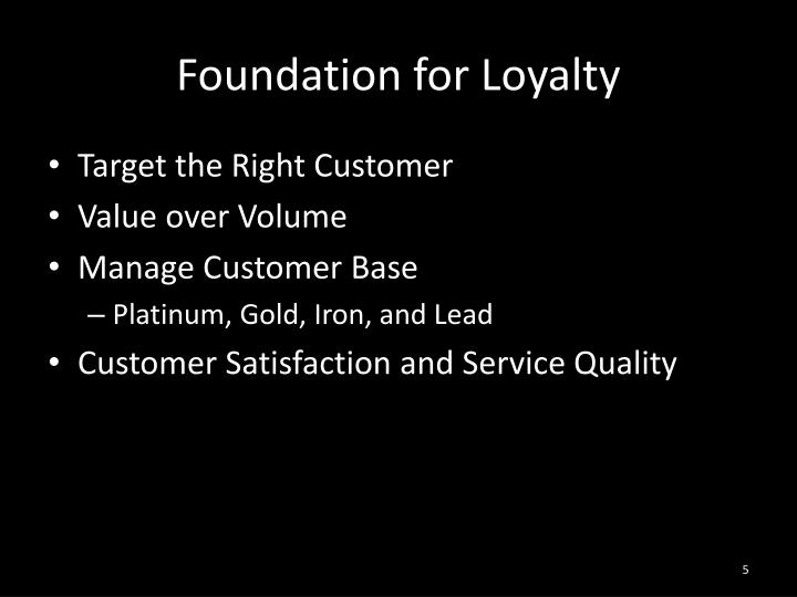 Foundation for Loyalty