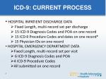 icd 9 current process
