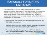 rationale for lifting limitation1