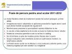 foaia de parcurs pentru anul scolar 2011 20121