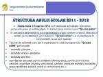structura anului scolar 201 1 201 24