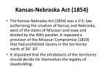 kansas nebraska act 1854