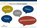 the cost of accountability