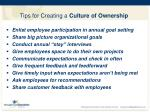 tips for creating a culture of ownership