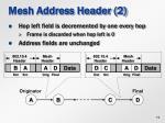 mesh address header 2