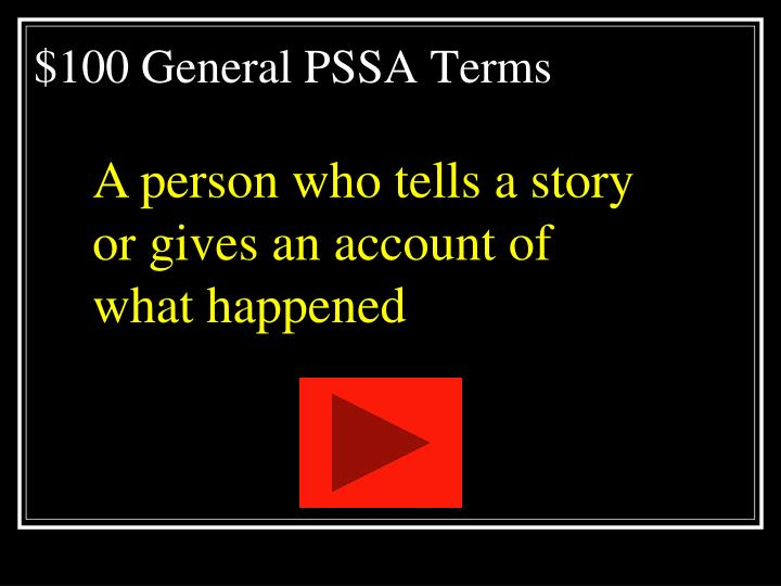 100 general pssa terms