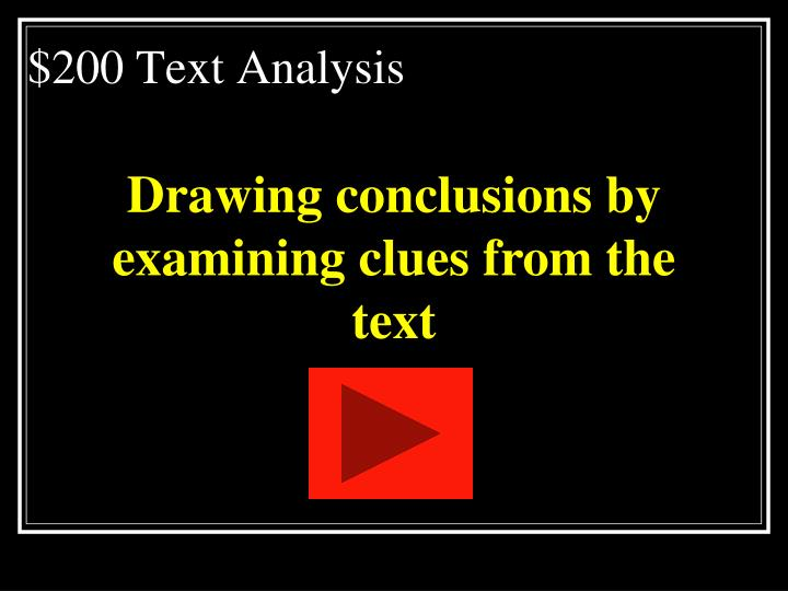 $200 Text Analysis