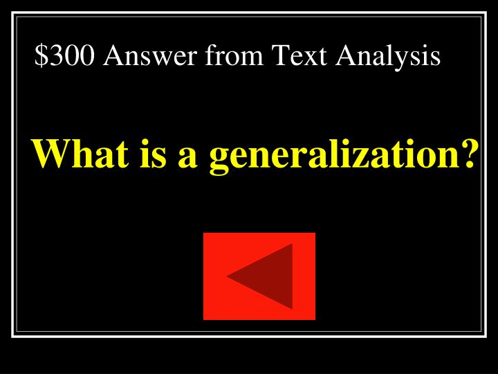 $300 Answer from Text Analysis