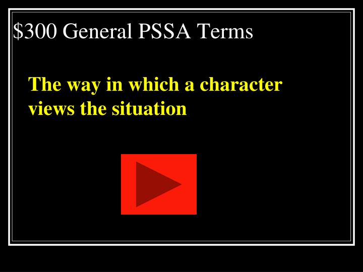 $300 General PSSA Terms