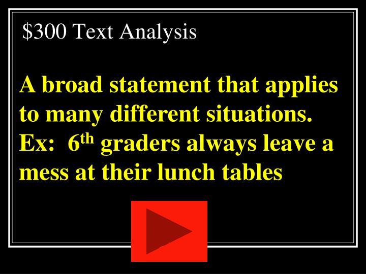 $300 Text Analysis