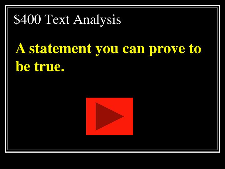 $400 Text Analysis