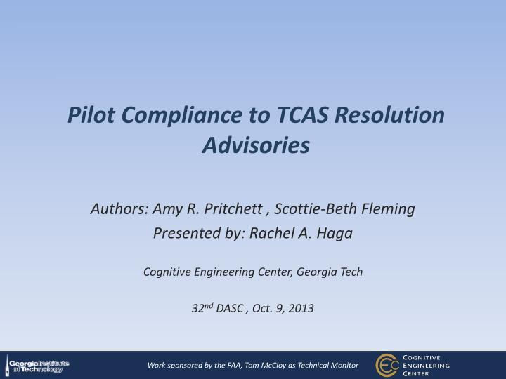 pilot compliance to tcas resolution advisories n.
