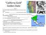 californy gold golden state