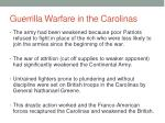guerrilla warfare in the carolinas