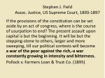 stephen j field assoc justice us supreme court 1893 1897