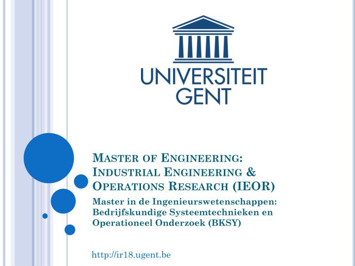 master of engineering industrial engineering operations research ieor n.
