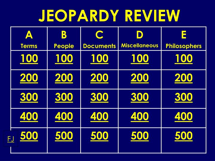 jeopardy review n.