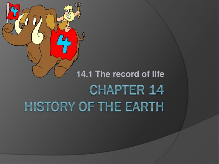 14 1 the record of life n.