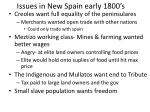 issues in new spain early 1800 s