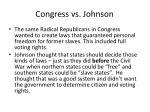 congress vs johnson