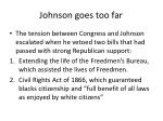 johnson goes too far