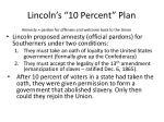 lincoln s 10 percent plan