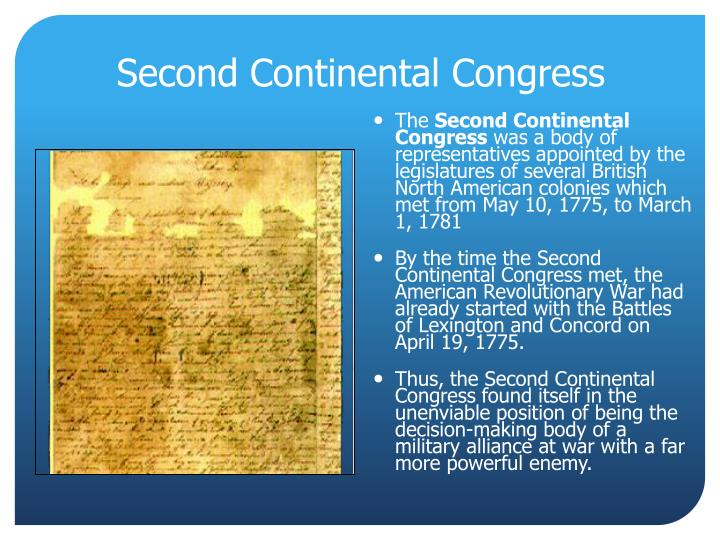 second continental congress n.